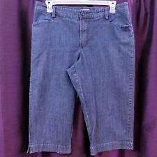 Lee Long Shorts Just Below the Waist Cotton Stretch Blue Denim Women's 16 Medium