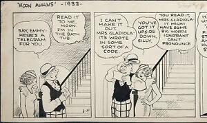 ORIGINAL ART STRIP, MOON MULLINS DAILY, 6/20/1933; FRANK WILLARD (ART #1427)
