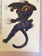 "BLACK LEOPARD PANTHER CAT TEMPORARY TATTOO  4 X 3""NEW"