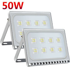 2X 50W LED Flood Light Cool White Floodlight SMD Spotlight Outdoor Security Lamp