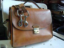 vintage HOLLAND SPORT saddle Leather Laptop Messenger Briefcase Authentic