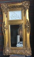 Vintage French Louis XV Trumeau Mirror with Neoclassical Plaque