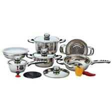 Chef's Secret 12pc 9-Ply Waterless Heavy-Gauge Stainless Steel Cookware Set KT12