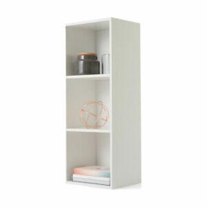 3 Tier Shelf Display Wood Bookcase Bookshelf Storage Wooden Shelving Rack SA