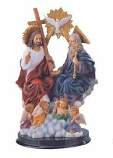9 Inch Statue of Holy Trinity Father Son Holy Spirit Angel Jesus Christ Figurine