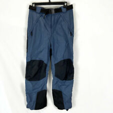 Columbia Mens Snowpants Large Blue Snowboarding Skiing Belted Waist Adjustable A