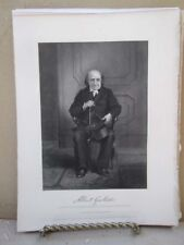 Vintage Print,ALBERT GALLATIN,Portrait Gallery,Chappel,1860