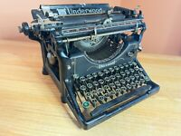 1927 Antique Underwood Desktop Typewriter Working w New Ink