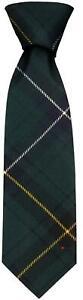 Clan Tie Henderson Modern Tartan Pure Wool Scottish Handmade Necktie