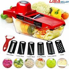 10 in 1 Manual Vegetable Slicer Potato Cutter Stainless Steel Mandoline Kitchen