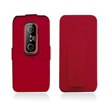 For Sprint HTC EVO 3D Red COMBO Belt Clip Holster Hard Case Phone Cover Stand
