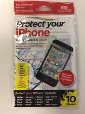 10 x protective resealable reusable poly-bend i phone 4, 5, Touch sleeves.