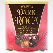 Brown and Haley Dark Roca Almond Buttercrunch Toffee Dark Chocolate Candy 9 oz