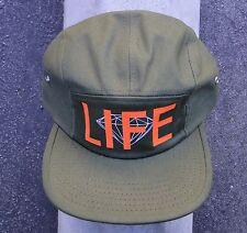 LIFE DIAMANTE GREEN MILT MENS DIAMOND SUPPLY CO. 5 PANELS CAMPER SNAPBACK HAT