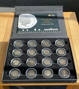 UK 50p Proof Collection 40th Anniversary 1969-2009 inc. Kew Gardens Fifty Pence
