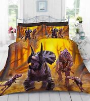 3D Digital Photo Print Dinosaur World Duvet Quilt Cover With Pillowcase Bedding