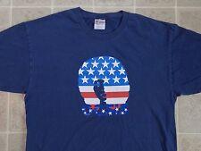 Vtg 2001 OASIS Tour Of Brotherly Love T-SHIRT Mens L Stars Stripes USA Flag 90s