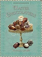 MASTER CHOCOLATIERS - CHOCOLATE SWEET SHOP TIN SIGN METAL PLAQUE WALL ART 25