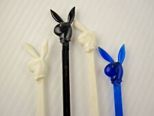 Vintage Lot 4 Mid Century The Playboy Club Swizzle Stick Bar RaRe Bunny Mascot