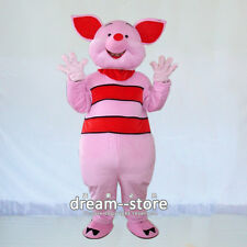 【SALE】 NEW WINNIE PIGLET PIG MASCOT COSTUME ADULT SIZE HALLOWEEN DRESS FAST SHIP