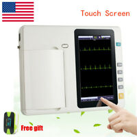 Digital 3-Channel Digital Electrocardiograph ECG EKG Machine Heart Rate US SHip