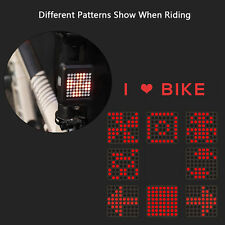 64 LED Bicycle Bike Rear Tail Laser Turn Signal Indicator Light Wireless Remote