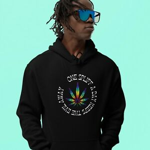 One Spliff A Day Hoodie Junglist Hoody Drum and Bass DNB Streetwear Stoners 420