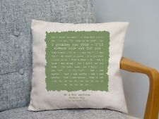 More details for coldplay 'sparks' personalised song lyrics cushion 2nd cotton anniversary gift
