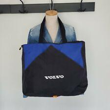 Vintage Volvo Dealership Promo Black Blue Large Canvas Tote Bag