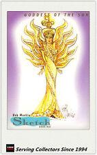 1997 Tempo World Of Barbie Cards Bob Mackie Sketch Card SK1 Goddess Of The Sun