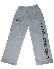 Under Armour Youth Size M Light Gray Boys Storm Athletic Fleece Lined Pants