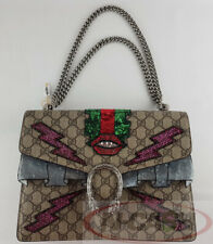 BIGSALE! MINT! RARE! AUTHENTIC $3800 GUCCI GG Supreme Medium Dionysus Canvas Bag