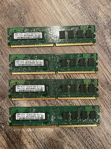 4GB Samsung (4x 1GB) PC2-6400U DDR2 800Mhz Non-ECC Desktop DIMM Memory