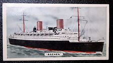 SS BREMEN   North German Lloyd   Liner    Superb Vintage 1935 Colour Card