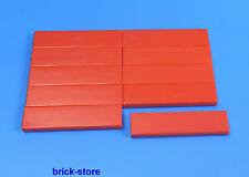 LEGO® Nr.- 243121 / 1x4 Fliesen rot / 10 Stück
