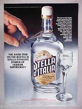 Stella d'Italia Sambuca Liquore Liqueur PRINT AD - 1977