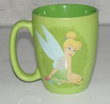 "DISNEY STORE~GREEN~5"" TALL~LARGE *FAIRY TINKERBELL* 20 OZ COFFEE MUG CUP (RARE)"