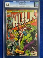 INCREDIBLE HULK #181 CGC 1.8 GD- 1st Full appearance WOLVERINE 1974 with MVS