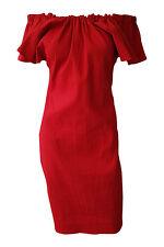 *LANVIN* OFF SHOULDER RED DRESS (FR 40)