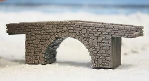 ZZ GAUGE BRIDGE ZZ SCALE 1/300 OLD SINGLE ARCH STONE BRIDGE LASER ENGRAVED