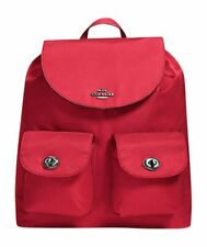NEW! Authentic! Red COACH New York Nylon Backpack F58814