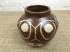 VINTAGE STUDIO POTTERY VASE WITH MAKERS MARK