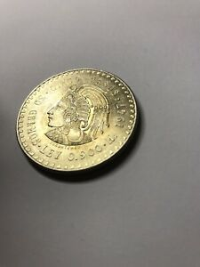 1947 Mexico Cinco Pesos 30g .900 Silver - .868oz ASW