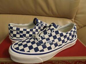 Vans Vault Og Era Lx Canvas Checkerboard Men's Size 10 Shoes Blue VN0A4BVA020