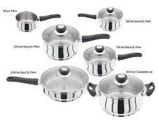 Judge Vista 6 Piece Saucepan Set With Saute Frying Pan Casserole Lid Induction