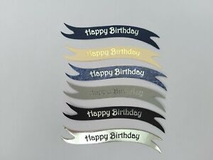 Multi pack 60 Happy Birthday die cut banners card toppers embellishments