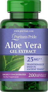 Puritans Pride Aloe Vera Extract 5000 Mg Softgels, 200 Count Packaging may vary