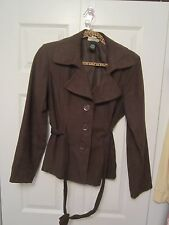 Women's Fashion Bug / Studio 1940 Brown Blazer ~ Size Medium