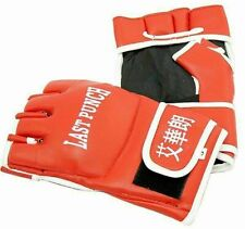 MMA Wristwrap Sparring Boxing Heavy Bag Gloves Fight Punch Mitt Leather Training