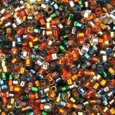 Miyuki Delica Seed Beads Size 11/0 Silver Lined Rainbow Mix 7.2g-Tube (DB-MX38)